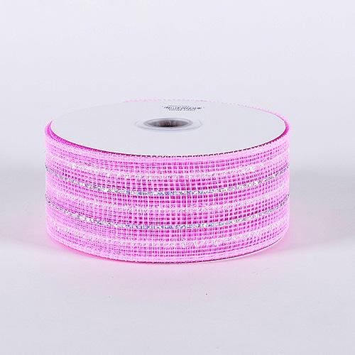 Light Pink Laser Metallic Mesh Ribbon