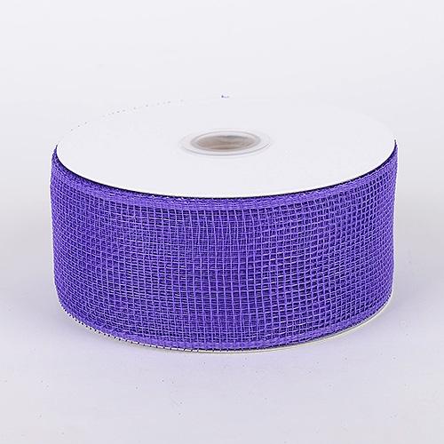 Purple Floral Mesh Ribbon