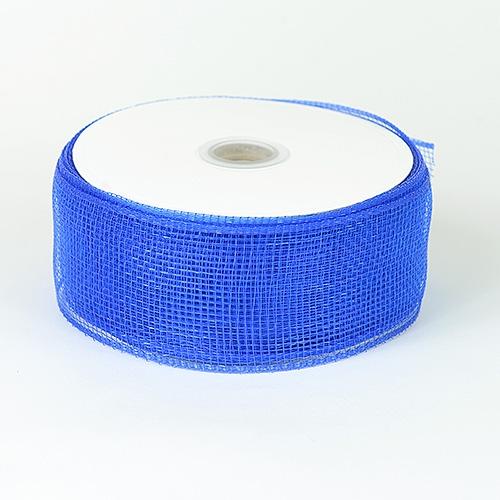 Royal Blue Floral Mesh Ribbon
