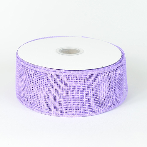 Lavender Floral Mesh Ribbon