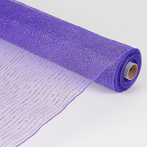 21 Inch x 10 Yards Metallic Mesh - Purple